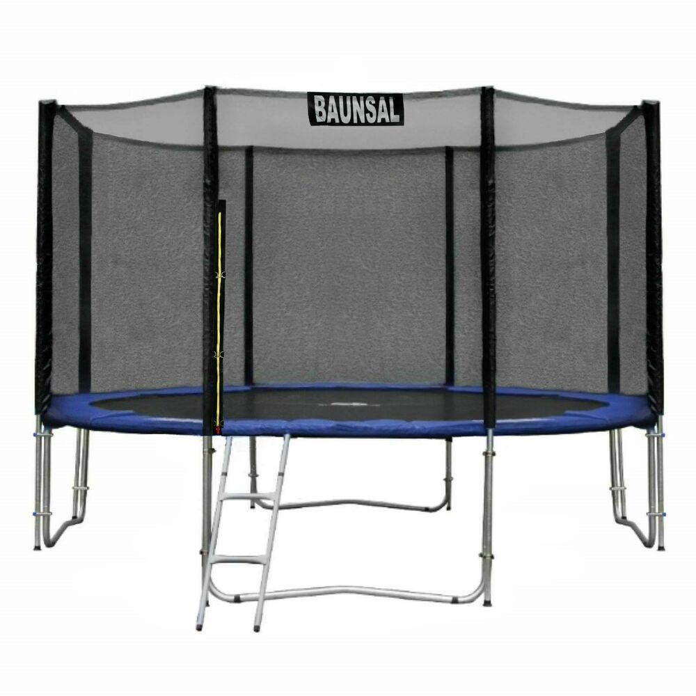 sicherheitsnetz fangnetz netz f r 8 netzstangen des trampolin 305 bis 310 cm ebay. Black Bedroom Furniture Sets. Home Design Ideas