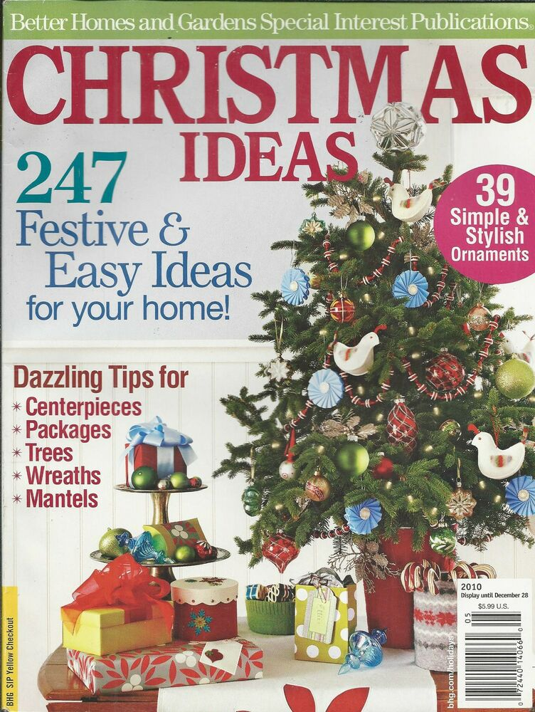 Christmas ideas magazine ornaments centerpieces packages Better homes and gardens christmas special