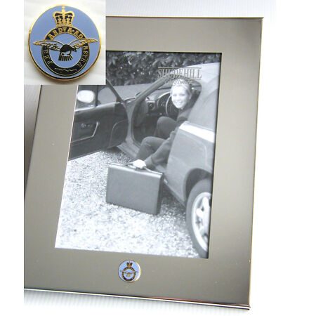 img-THE RAF ROYAL AIR FORCE ARMY BADGE SILVER CHROME PLATED PHOTO FRAME MILITARY SEE