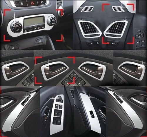 hyundai ix35 chrom tuning innenraum zubeh r set ebay. Black Bedroom Furniture Sets. Home Design Ideas
