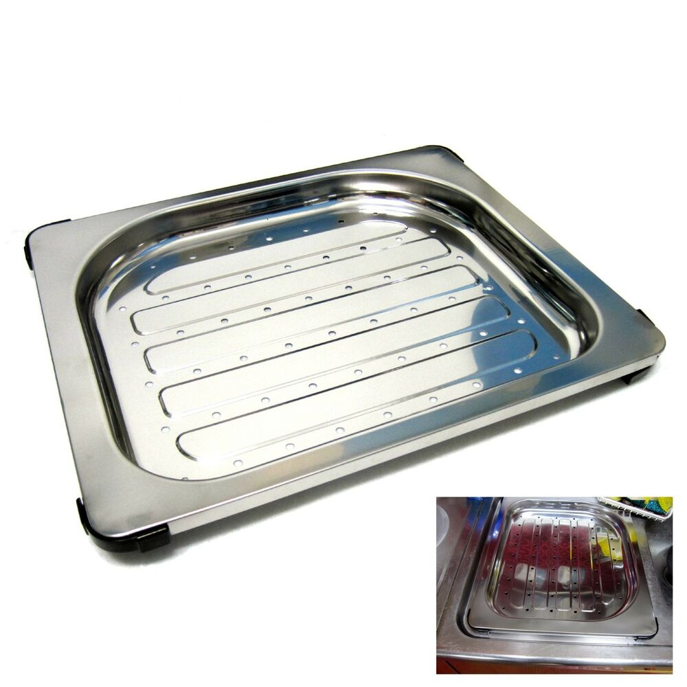 New Stainless Steel Perforated Rectangular Drainboard For