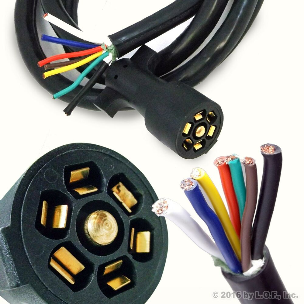 Wiring Harness 7 Pin Trailer : Way trailer wire harness plug get free image about