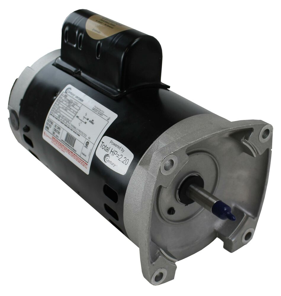 A o smith century b855 square flange 2hp 230v 3450rpm for Square flange pool pump motor