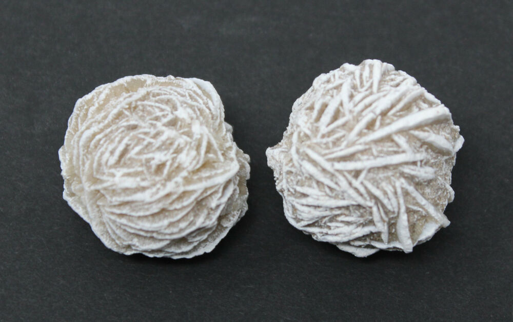 2 X Desert Rose Selenite Stones Crystal Healing Love