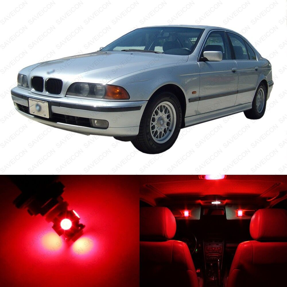 18 X Brilliant Red LED Interior Light Package For 1996