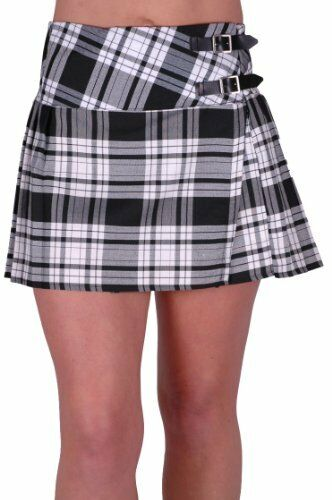 womens buckle casual tartan checkered pleasted billie kilt