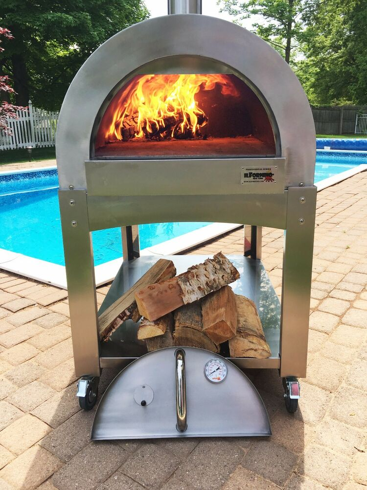 Commercial Stainless Steel Wood Fire Pizza Oven Pita
