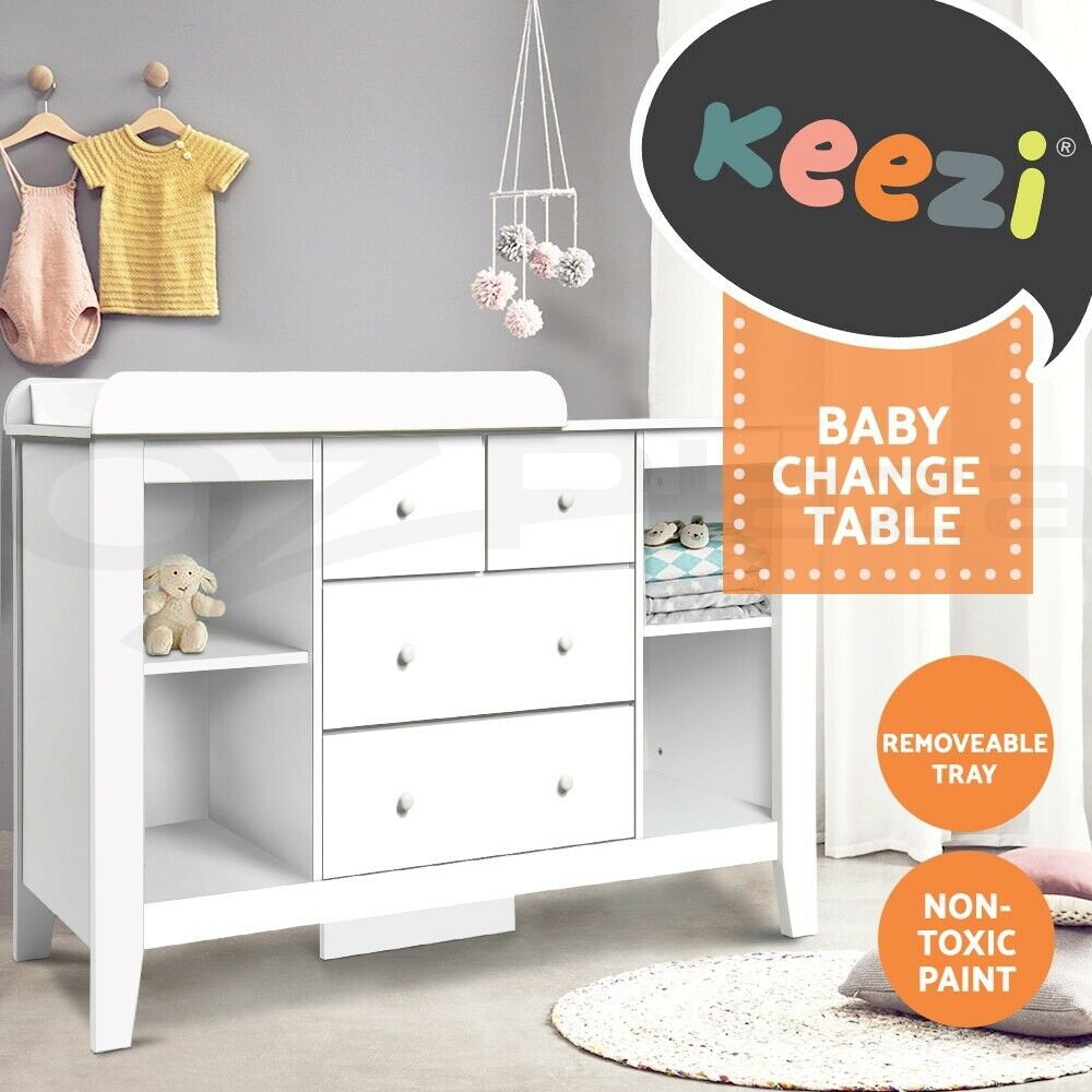 Baby Bedroom In A Box Special: Artiss Change Table Baby Chest Of Drawer Dresser Cabinet