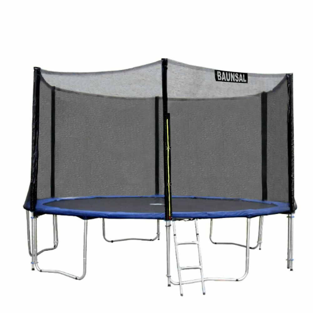 sicherheitsnetz fangnetz netz f r 6 netzstangen des trampolin 427 bis 430 cm ebay. Black Bedroom Furniture Sets. Home Design Ideas