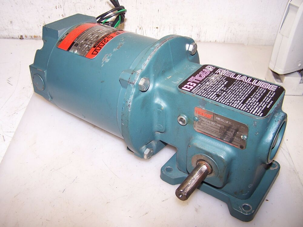 Reliance 1 3 hp ac electric gearmotor 208 230 460 volt 20 for Ac motor 1 hp