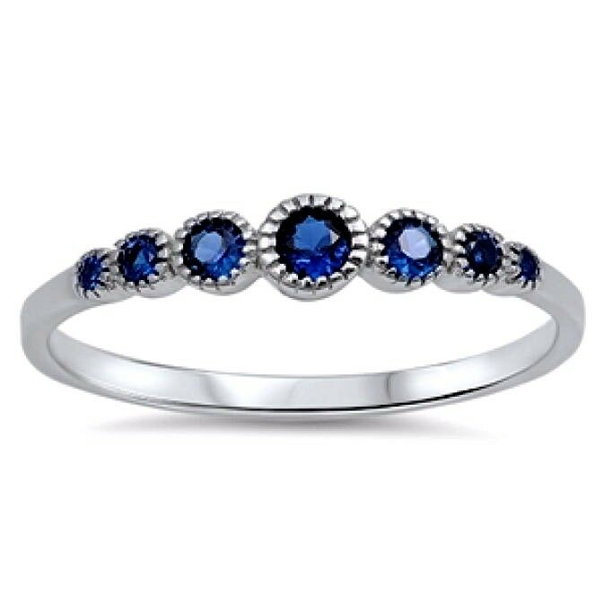 Usa seller 7 stone ring sterling silver 925 best price for New top jewelry nyc prices