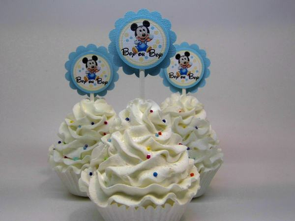 baby mickey mouse baby shower cupcake toppers ebay