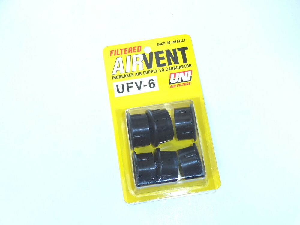 Uni Filter Air Box Filtered Air Vents 6 Pack Motorcycles