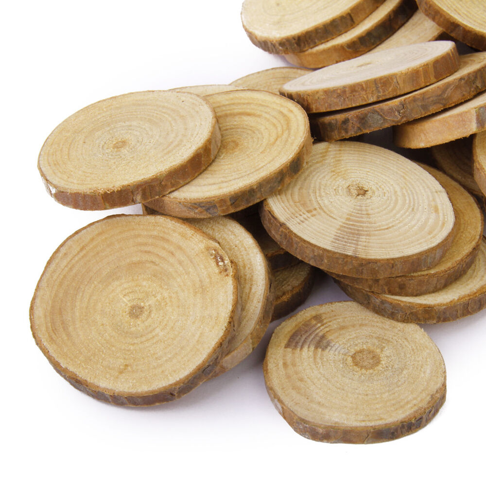 30pcs Natural Wooden Log Slices Rustic Wedding Table Decor ...