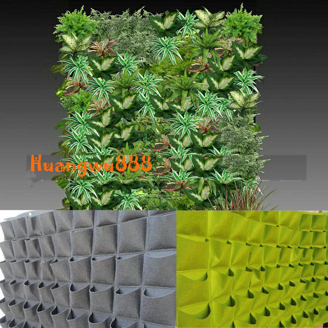 72 pocket outdoor vertical greening hanging wall garden plant bags