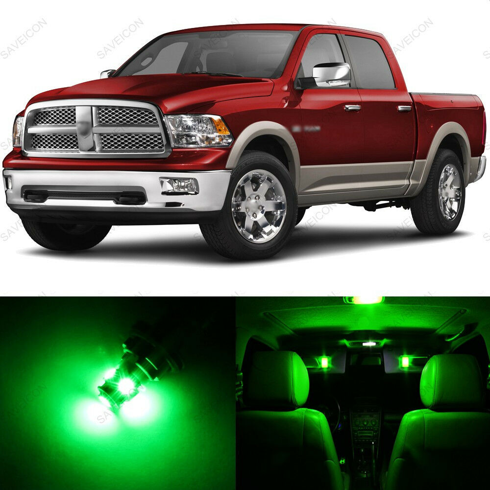 8 X Green Interior Light Led Package For 2002 2011 Dodge Ram 1500 2500 3500 Ebay