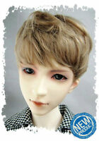 """7-8"""" Brown Synthetic Mohair 1/4 BJD Doll SD Short Wig"""