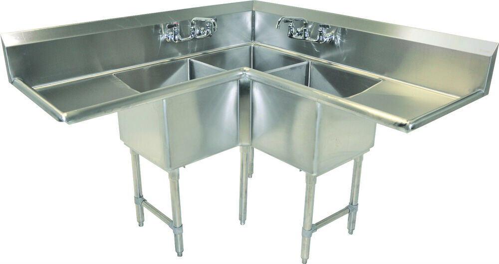 Commercial Kitchen Sinks 3 Compartment : Three Compartment Commercial Kitchen 57