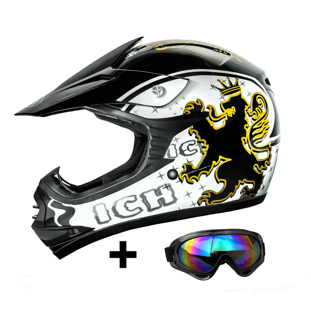 ato kinder cross helm brille ece 2205 motorradhelm quadhelm bmx crosshelm ebay. Black Bedroom Furniture Sets. Home Design Ideas