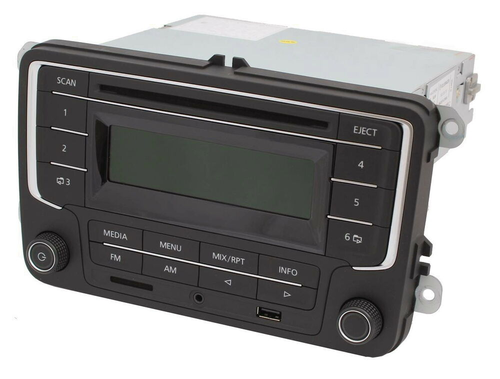 neu original vw autoradio rcd usb sd karten leser aux3 mp3 cd auto kfz neu ebay. Black Bedroom Furniture Sets. Home Design Ideas