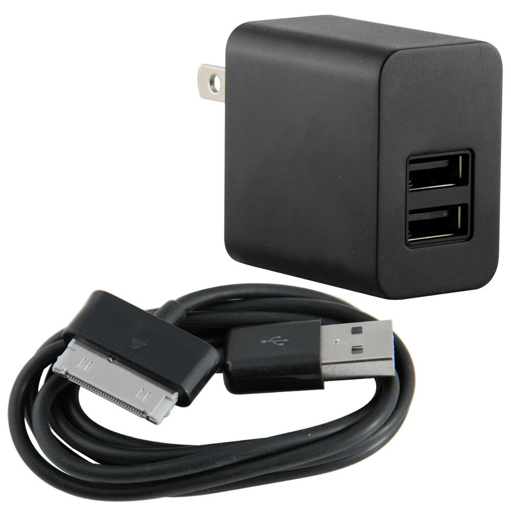 2 port wall charger micro usb cable for samsung galaxy tab 2 7 0 10 1 black ebay - Port usb tablette samsung ...