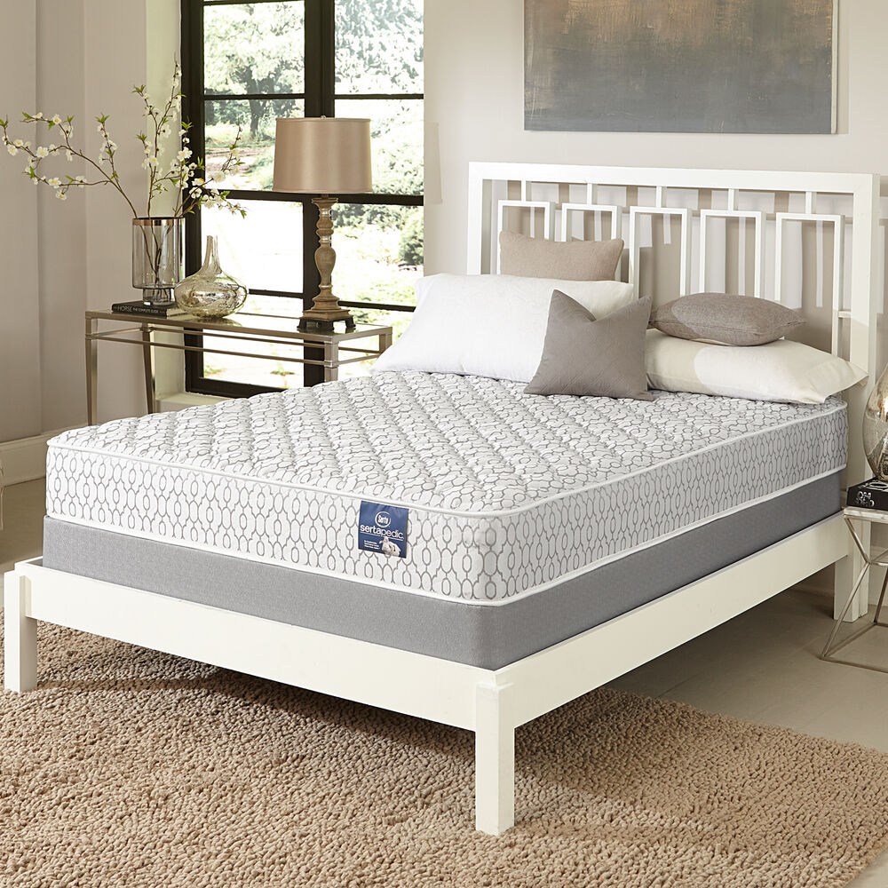 Serta gleam firm full size mattress set ebay for Full bed sets with mattress