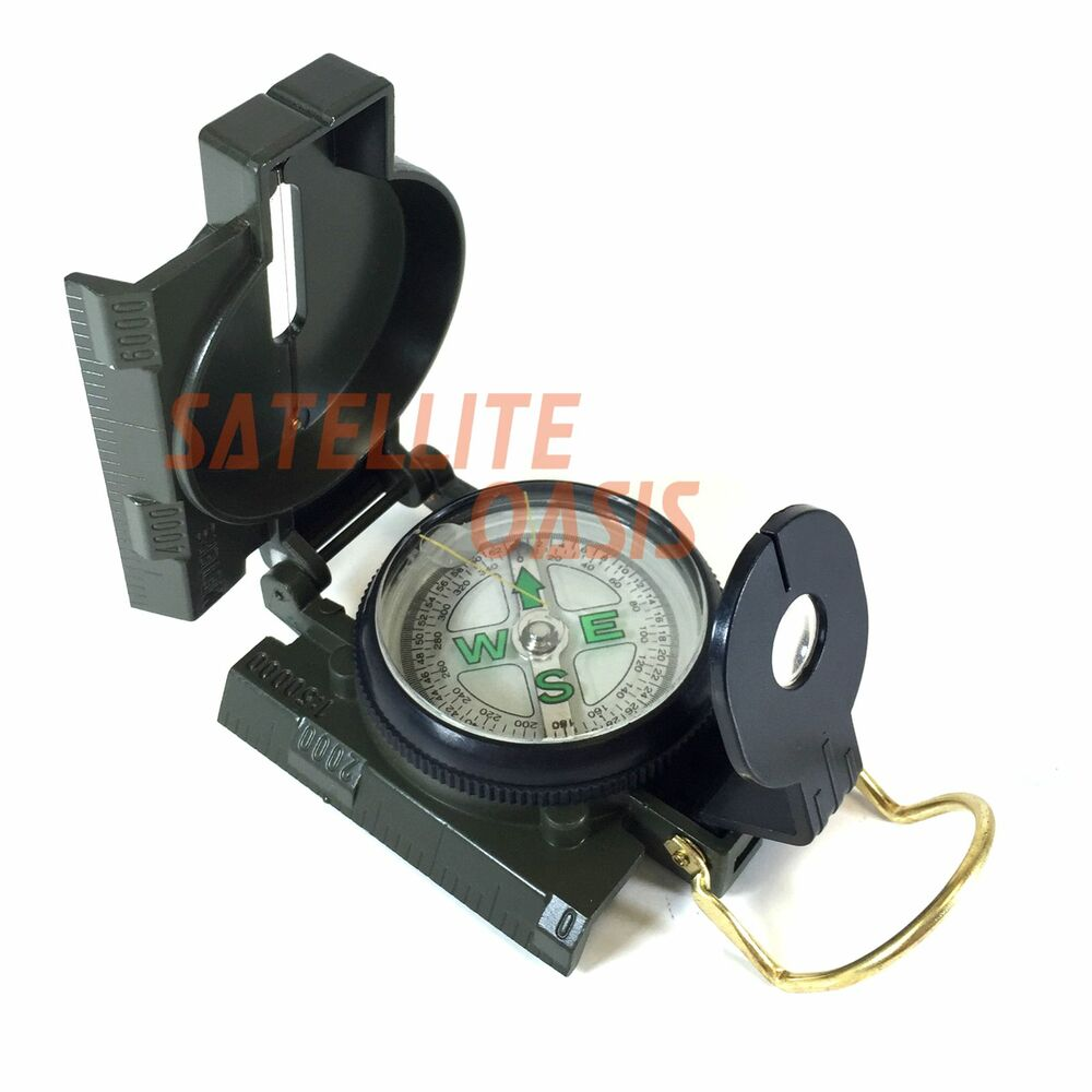 Metal Lensatic Compass Military Camping Hiking Style Survival Marching TCA