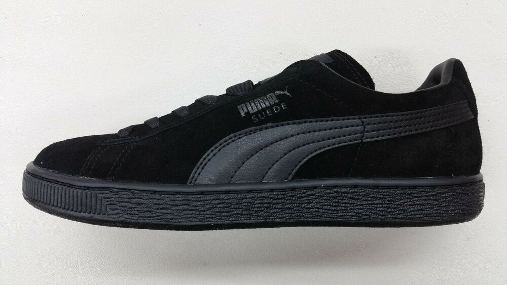 puma suede classic all black suede leather mens size retro sneakers 356328 01 ebay. Black Bedroom Furniture Sets. Home Design Ideas