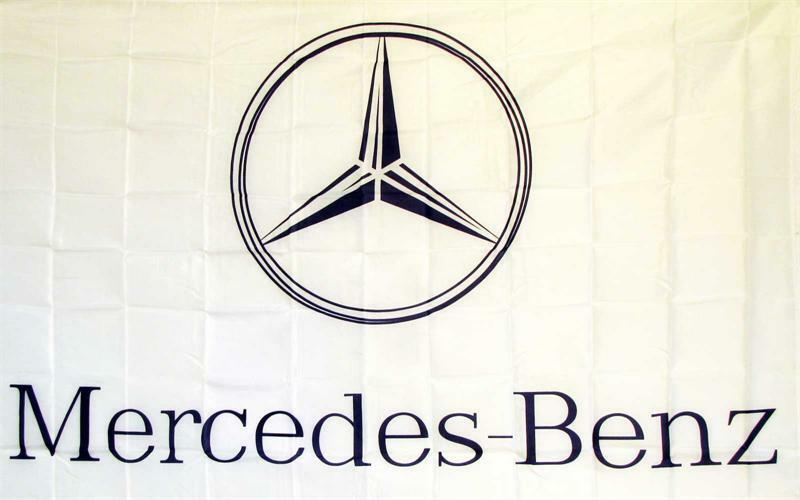 Mercedes benz logo dealer banner flag sign ebay for Mercedes benz sign in