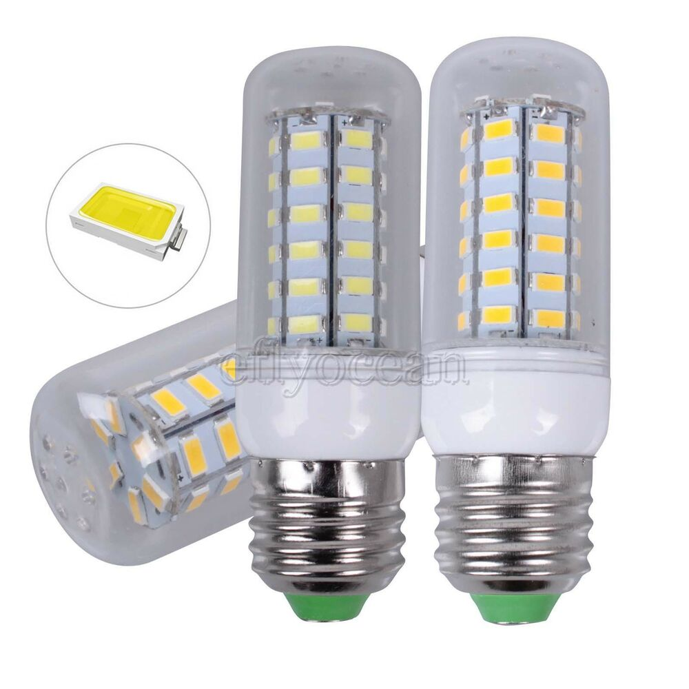 e27 e14 5730smd led bulb warmwei wei gl hbirne birne leuchtmittel spot lampe ebay. Black Bedroom Furniture Sets. Home Design Ideas