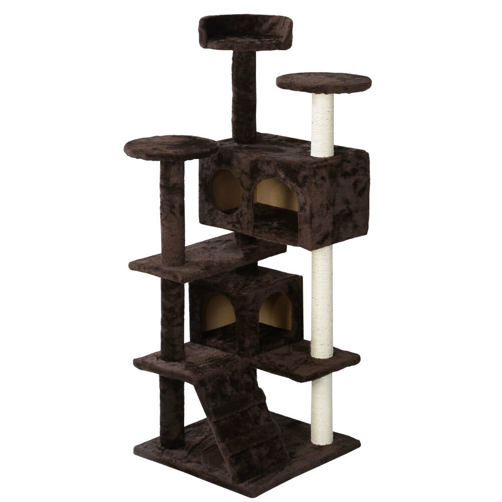 New cat tree tower condo furniture scratch post kitty pet for Furniture house