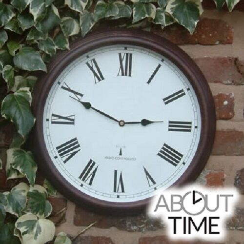 outdoor wall clock radio controlled garden numerals indoor
