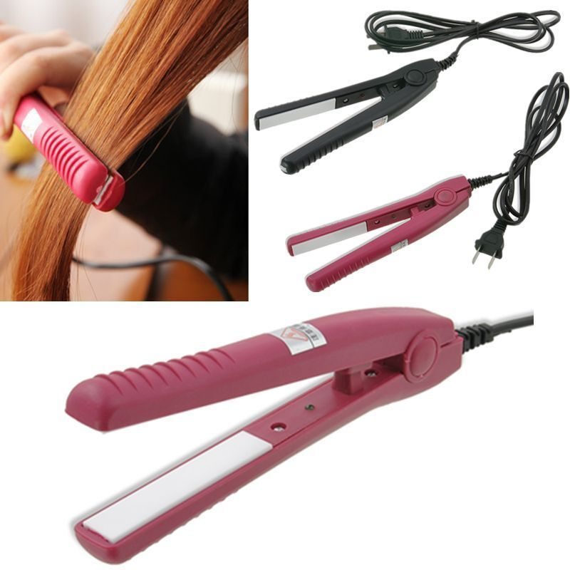 Mini Ceramic Hair Care Curl Straightener Flat Iron Perm