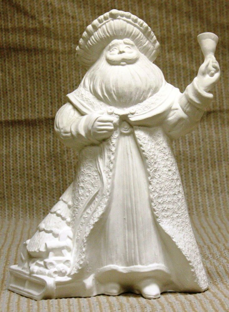 Ceramic Bisque Antique Santa With Bell Gare Mold 2385 U