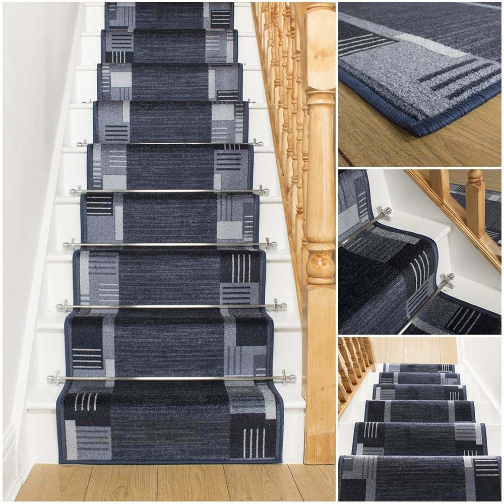 montana midnight stair carpet runner narrow staircase. Black Bedroom Furniture Sets. Home Design Ideas