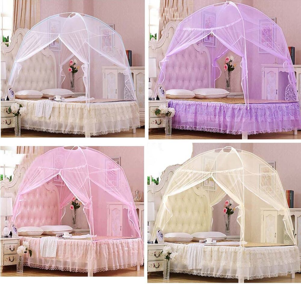 hight qc bed canopy mosquito net tent for twin queen small king bed size ebay. Black Bedroom Furniture Sets. Home Design Ideas