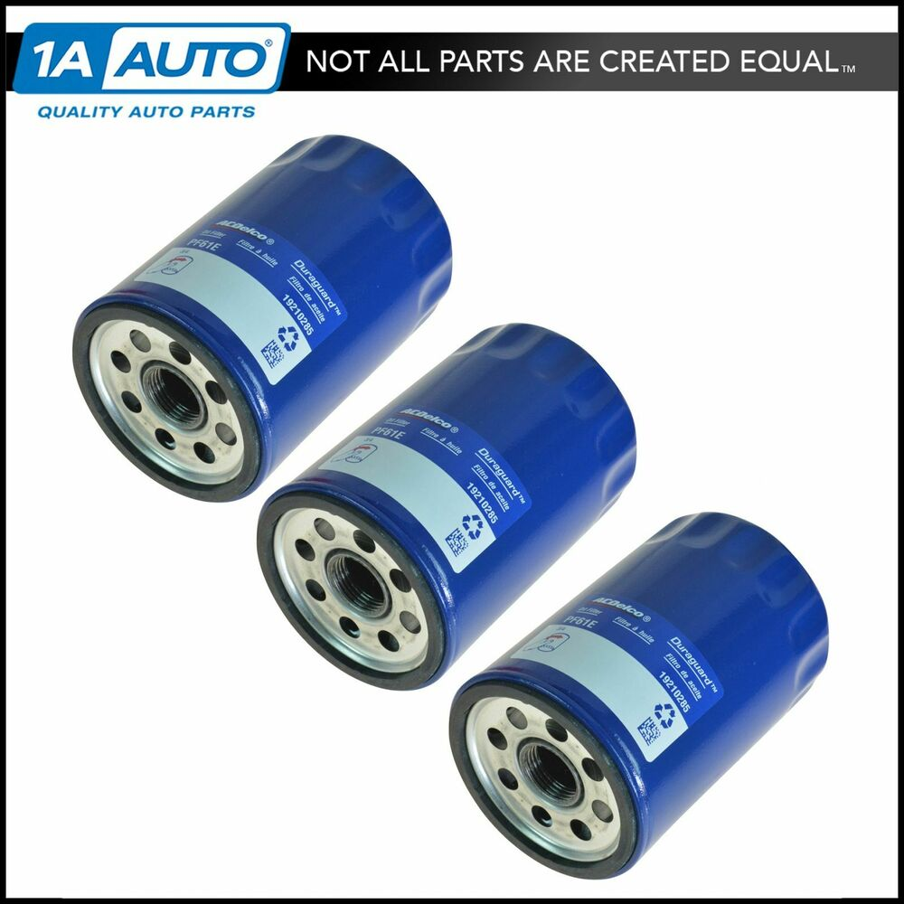 Ac delco pf61f engine oil filter set of 3 for chevy olds for Motor oil for 2001 chevy suburban