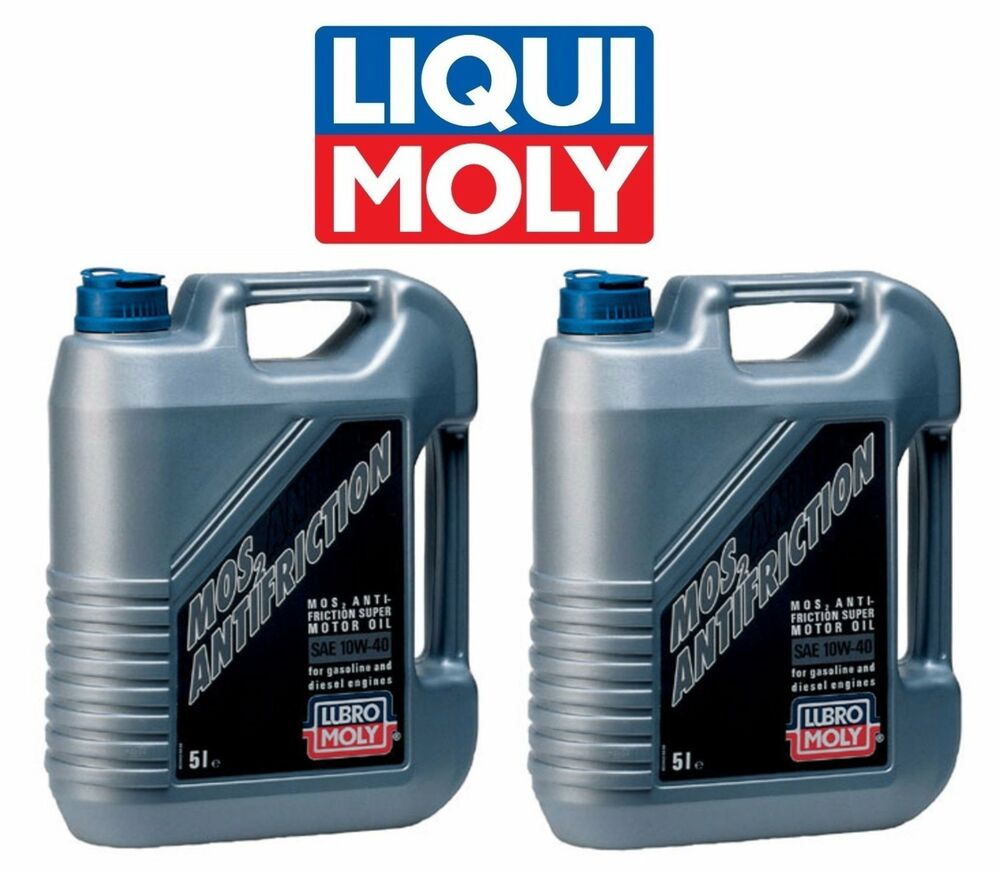 10 liters 10w40 liqui moly mos2 antifriction semi synthetic gas diesel motor oil ebay. Black Bedroom Furniture Sets. Home Design Ideas
