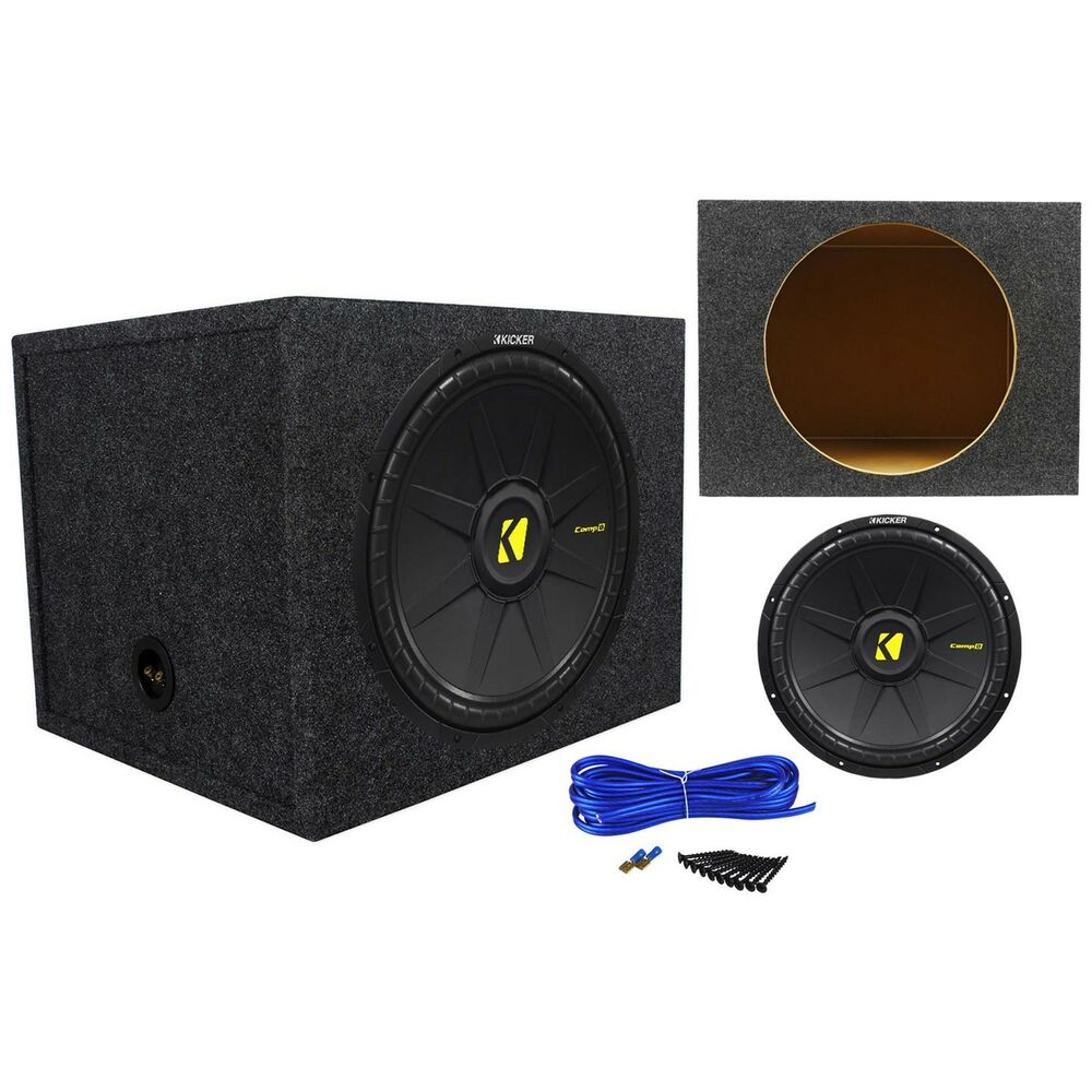 Kicker 40cwd154 compd 15 1200w car audio subwoofer sealed for Box subwoofer in vetroresina