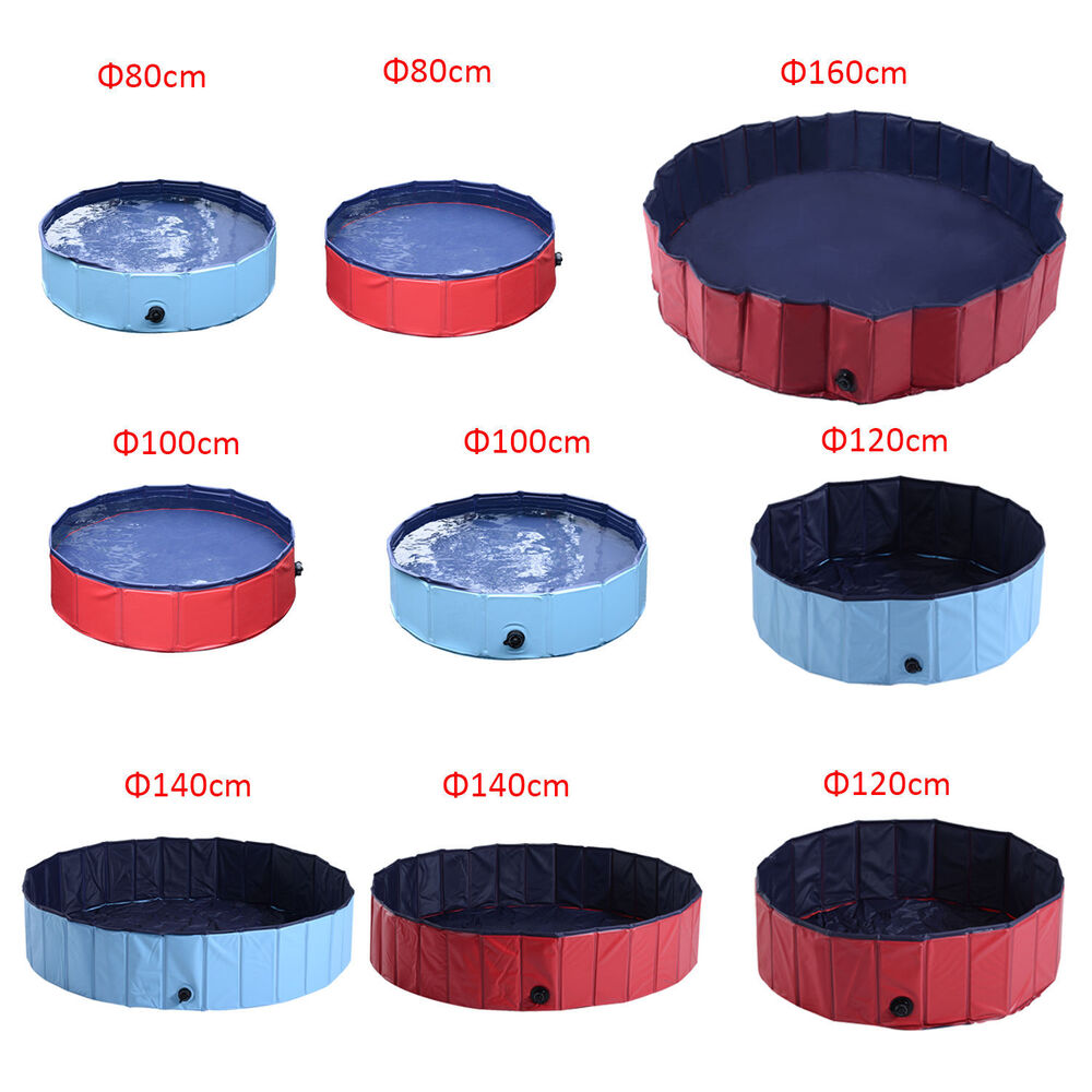 Portable pet pool swimming bath cat dog indoor outdoor for Swimming pool 120 cm tief