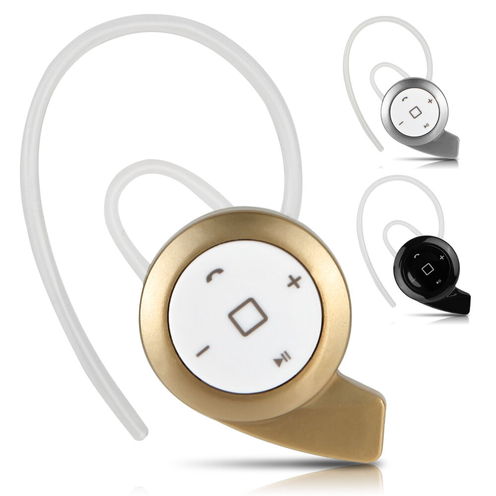 wireless stereo bluetooth headset headphone ear hook earphone for smartphone ebay. Black Bedroom Furniture Sets. Home Design Ideas
