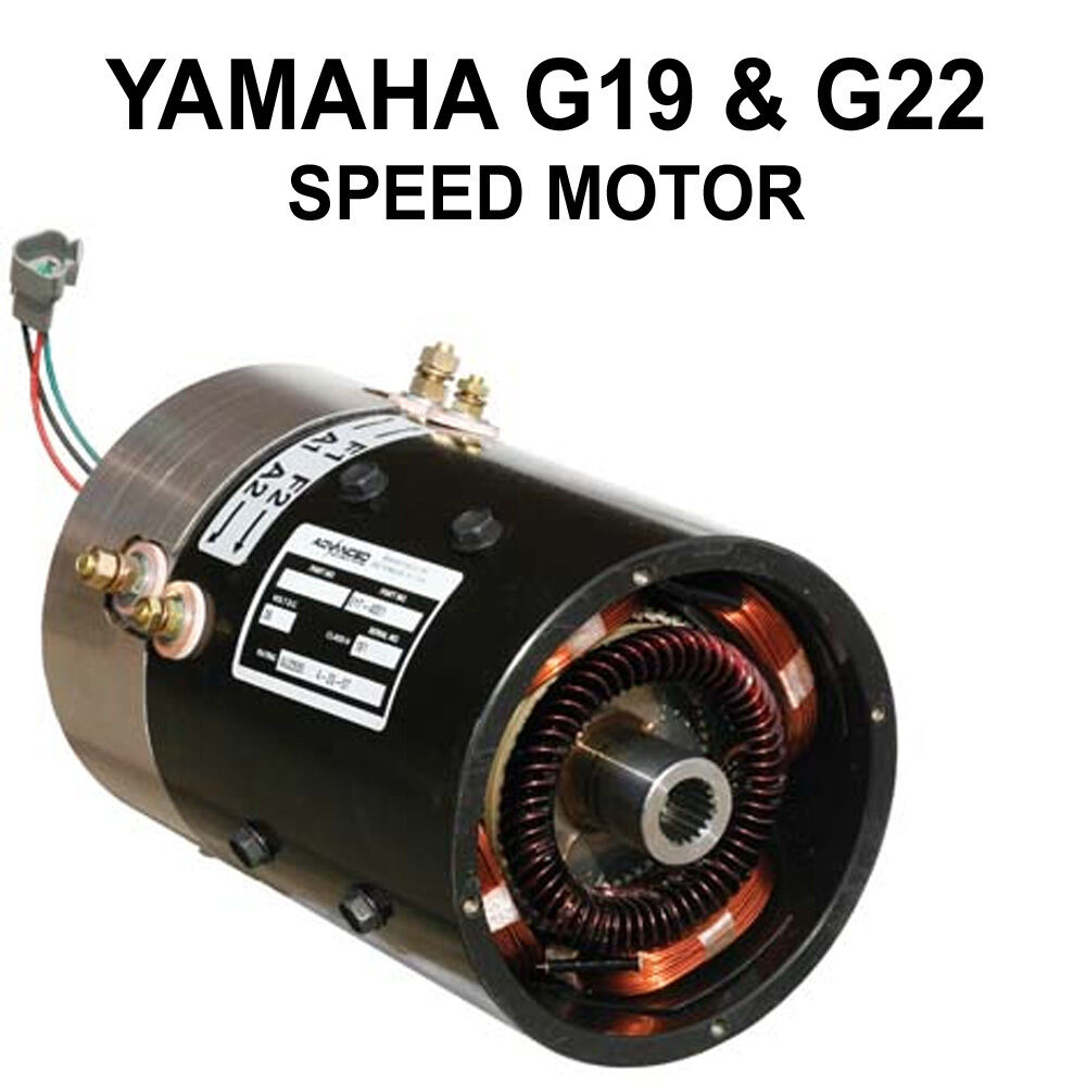 Yamaha g19 g22 golf cart speed motor up to 23mph ebay for Advanced motors and drives golf cart