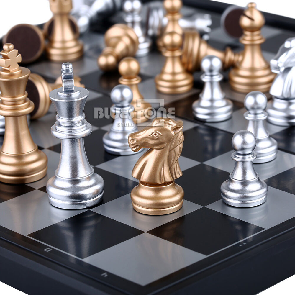 Magnetic chess silver gold pieces chess folding magnetic Where can i buy a chess game