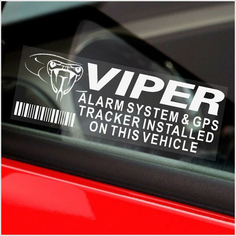 5 x VIPER GPS Tracking Device-Alarm Security Stickers-Car ...