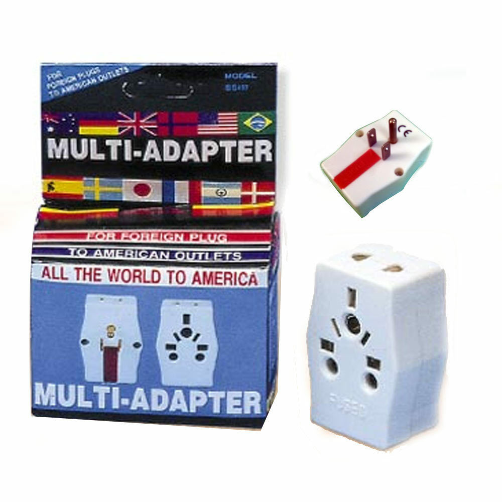 multi adapter travel europe to usa power plug adaptor. Black Bedroom Furniture Sets. Home Design Ideas