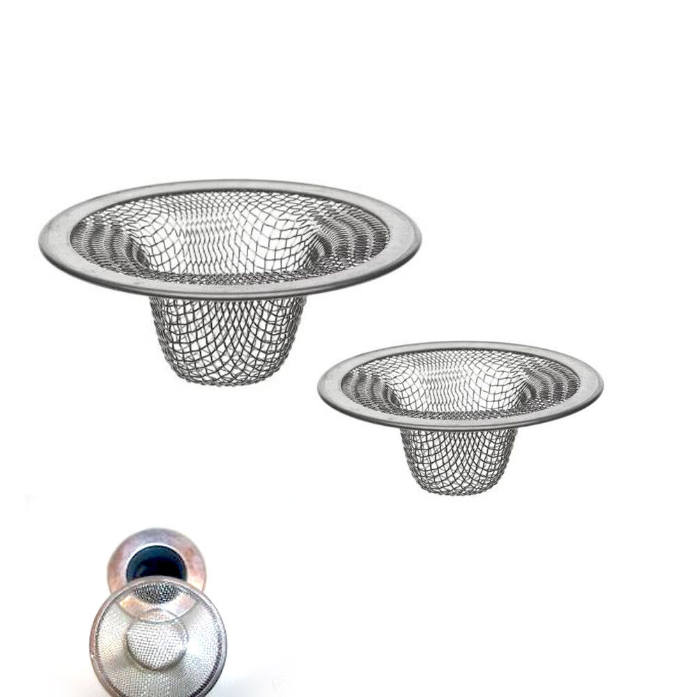 mesh sink strainer drain stopper trap kitchen bathroom new ebay