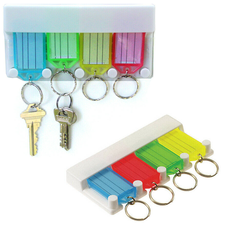 Key Tag Rack Multi Key Chain Ring Organizer Insert Label
