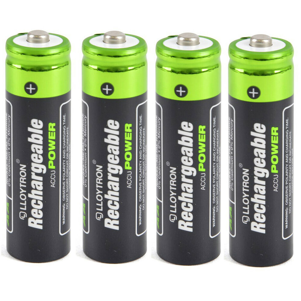 4 X Aa Solar Lights Camera Torch Rechargeable Batteries Ebay
