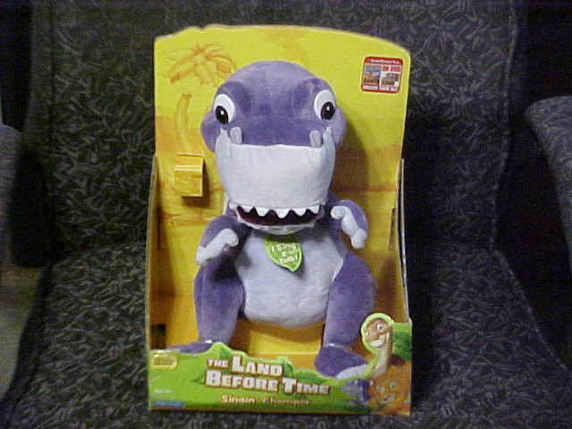Land Before Time Toys : Singing talking chomper plush toy with box the land
