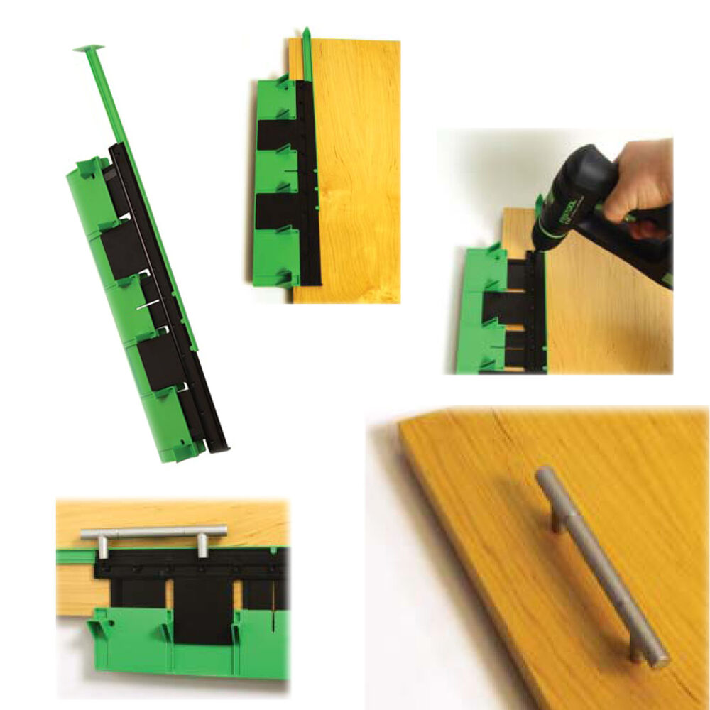 Door Hole Drilling : Kitchen door handle jig quickly accurately mark your